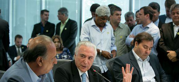 O presidente  Michel Teme participa, no Rio, de reunião sobre segurança pública Foto:  Alan Santos/PR