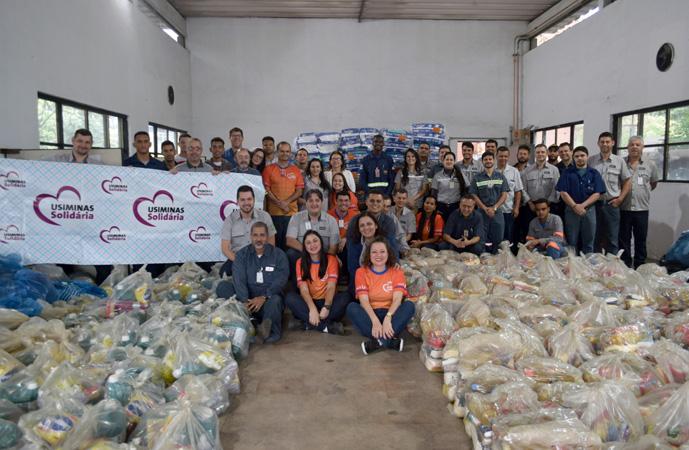 Evento de encerramento oficial da Campanha contou com a presença do diretor da Usina de Ipatinga, gestores, voluntários e representantes de entidades beneficiadas