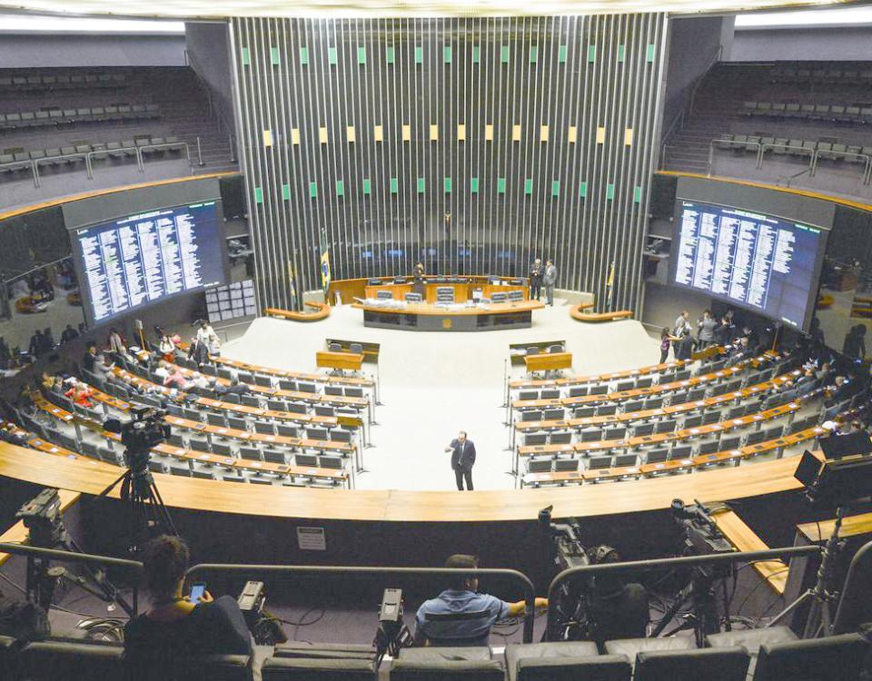 Brasília – Plenário da Câmara dos Deputados antes do inicio da discussão do relatório do Impeachment (Antônio Cruz/Agência Brasil)