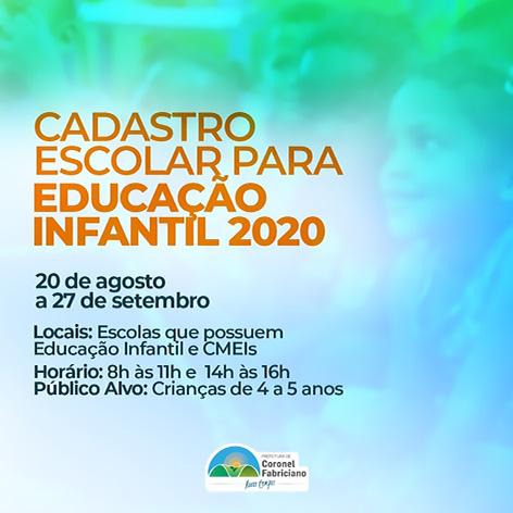 Fabriciano abre cadastro escolar para Educação Infantil