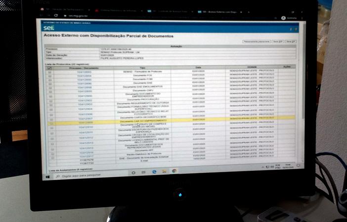 Os processos se darão via Sistema Eletrônico de Informações – SEI