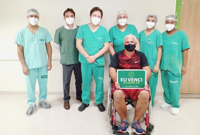 Marcos Antonio Mendes, de 52 anos, passou pelo susto da contaminação, e pela felicidade da recuperação