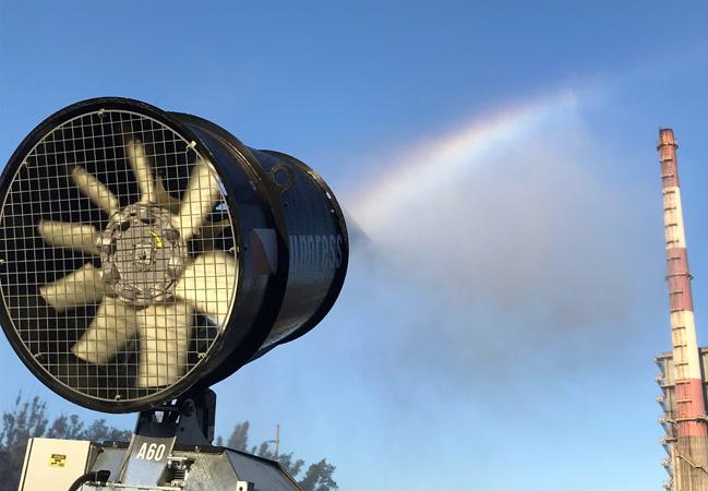 Canhões de névoa são novos aliados no controle ambiental em Ipatinga