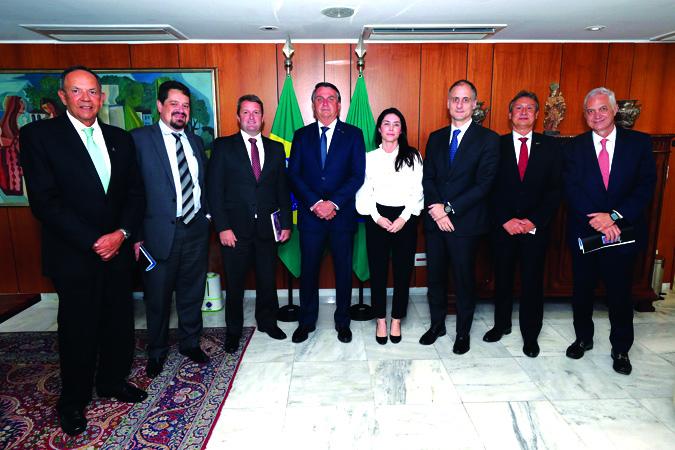 Conselho do Aço Brasil é recebido pelo Presidente Jair Bolsonaro - Foto: Assessoria IAB