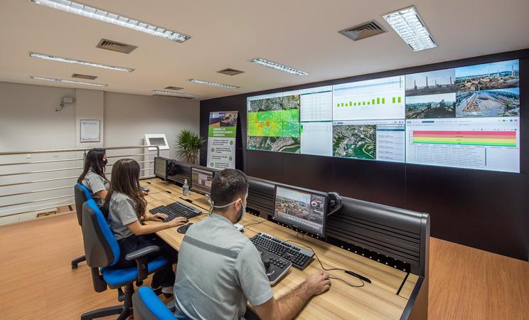 A Central de Monitoramento Ambiental da Usiminas - Foto: Elvira Nascimento