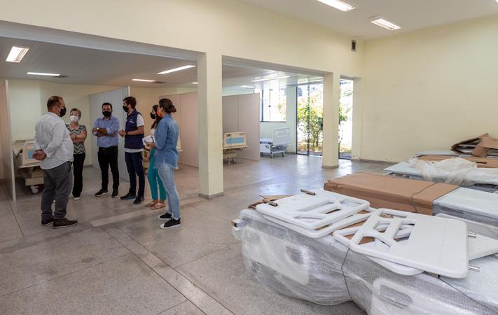 Implantada em tempo recorde, estrutura possibilita atendimentos não Covid na unidade de saúde e abre espaço no Hospital Municipal Eliane Martins (HMEM) para os 20 novos leitos de UTI que estão sendo aguardados pelo município