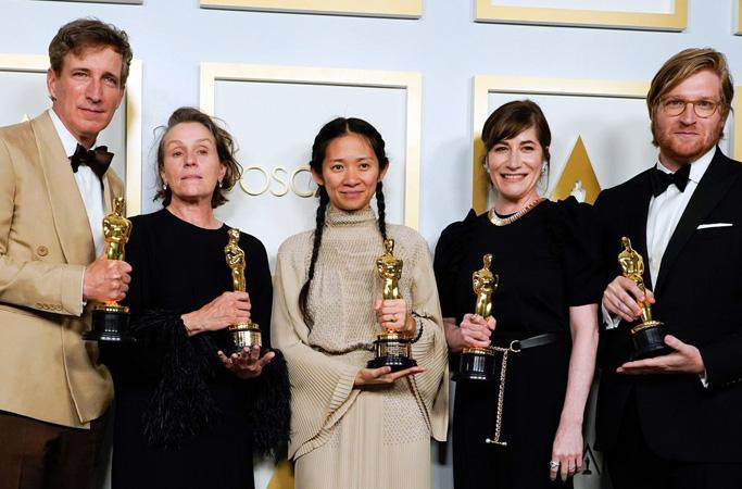 Melhor filme, melhor direção e melhor atriz ficaram com Nomadland, confira a lista completa. Foto: Reurters - Chris Pezello-