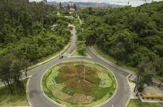 A cidade se destaca pela quantidade de árvores