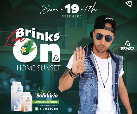 Dj Brinks celebra retorno as atividades com live para  arrecadar leite para creches