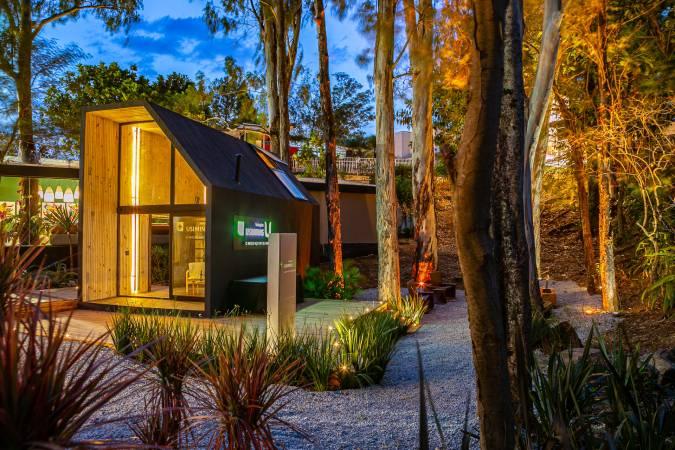 O projeto que tem 33m² e foi desenvolvido pela empresa Liga Arquitetura e Urbanismo